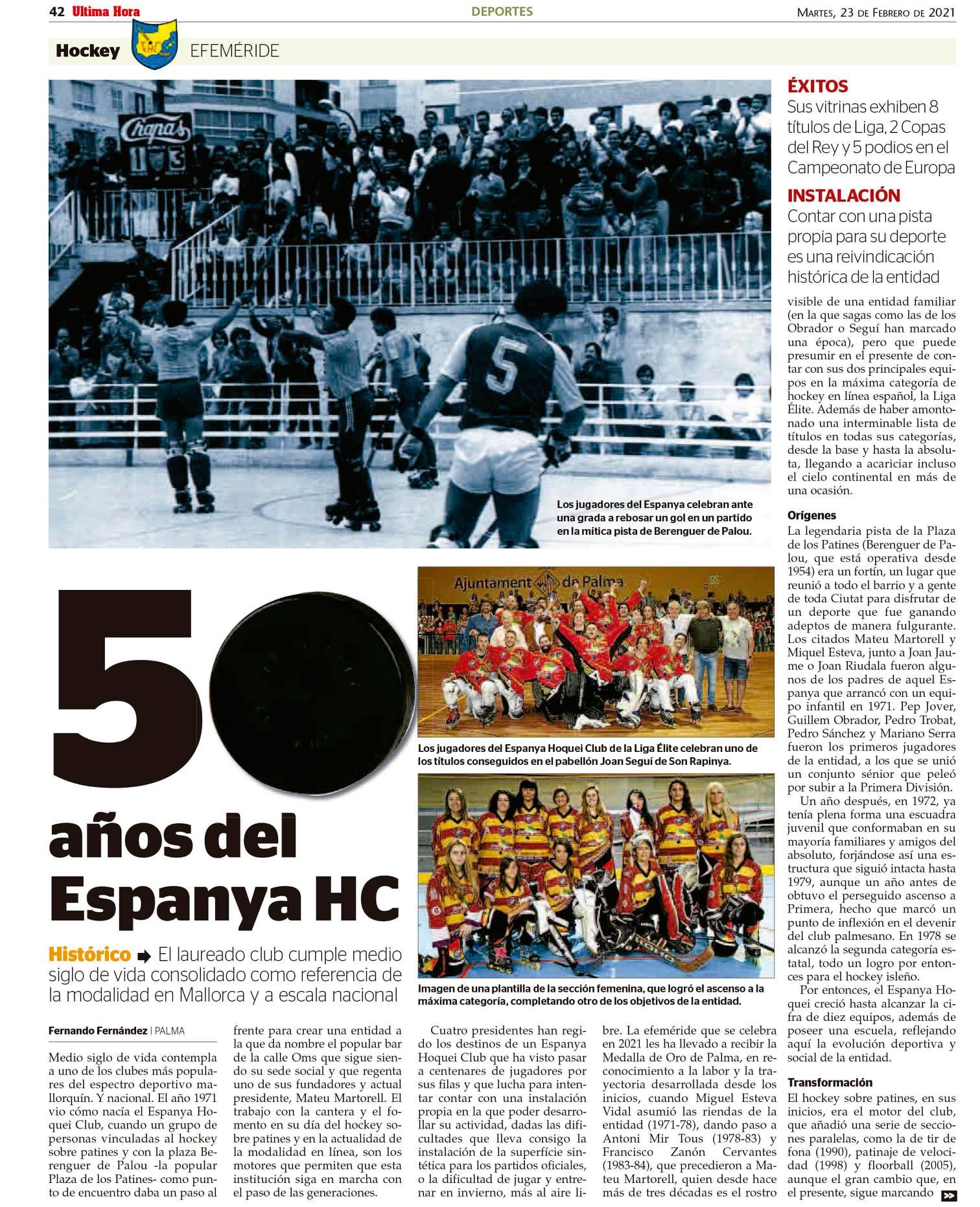 50 años del Espanya HC